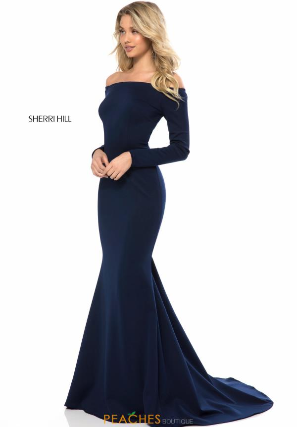 Sherri Hill Long Sleeve Fitted Dress 52041