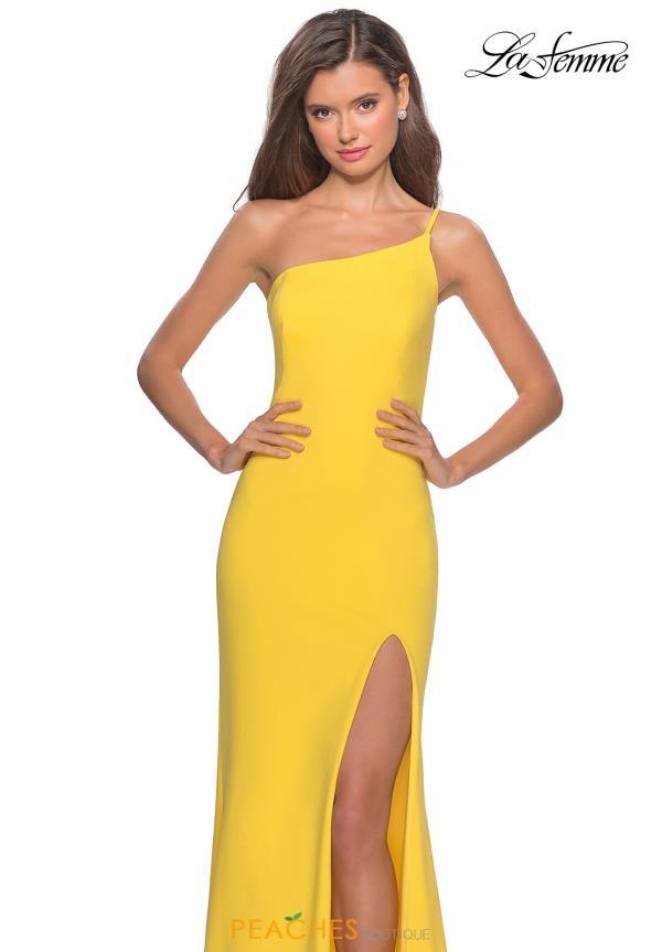 La Femme One Shoulder Dress