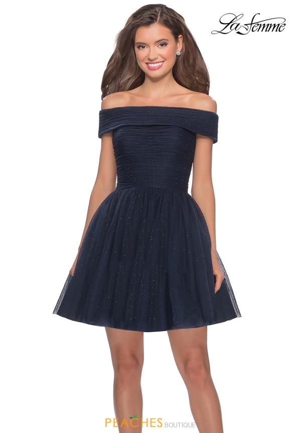 La Femme Short Navy Dress 28234