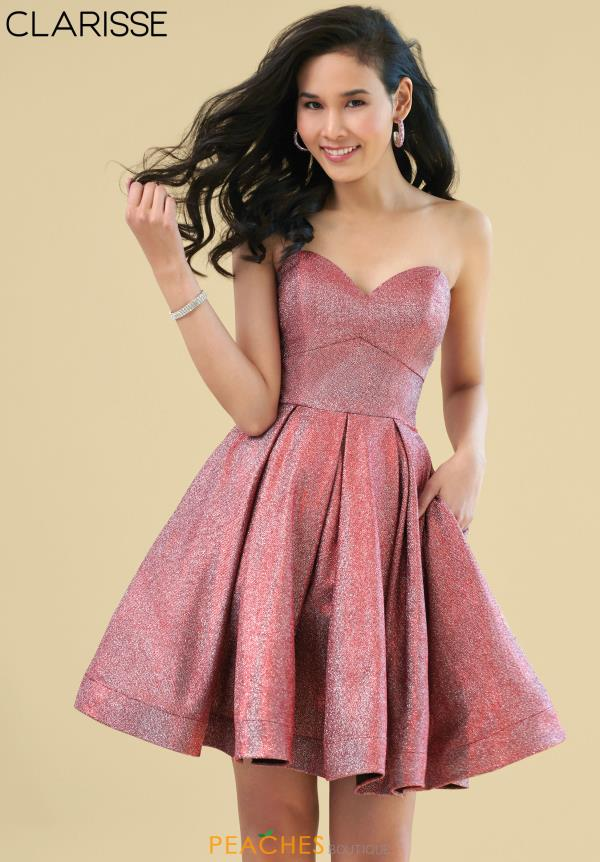 Clarisse Sweetheart Glitter Dress 3904