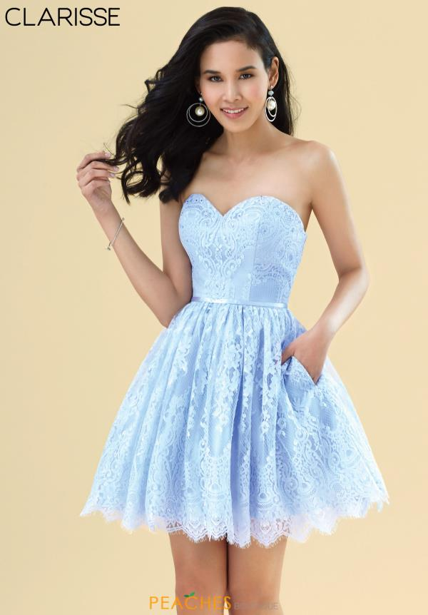 Clarisse A Line Sweetheart Dress 3907