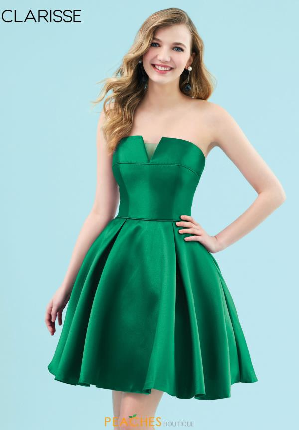Clarisse Strapless Mikado Dress 3917