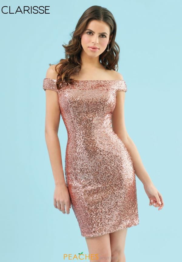 Clarisse Cap Sleeve Beaded Dress S7003
