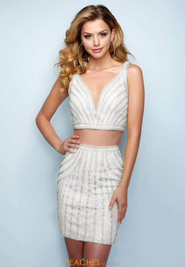 Splash Two Piece Beaded Dress E838