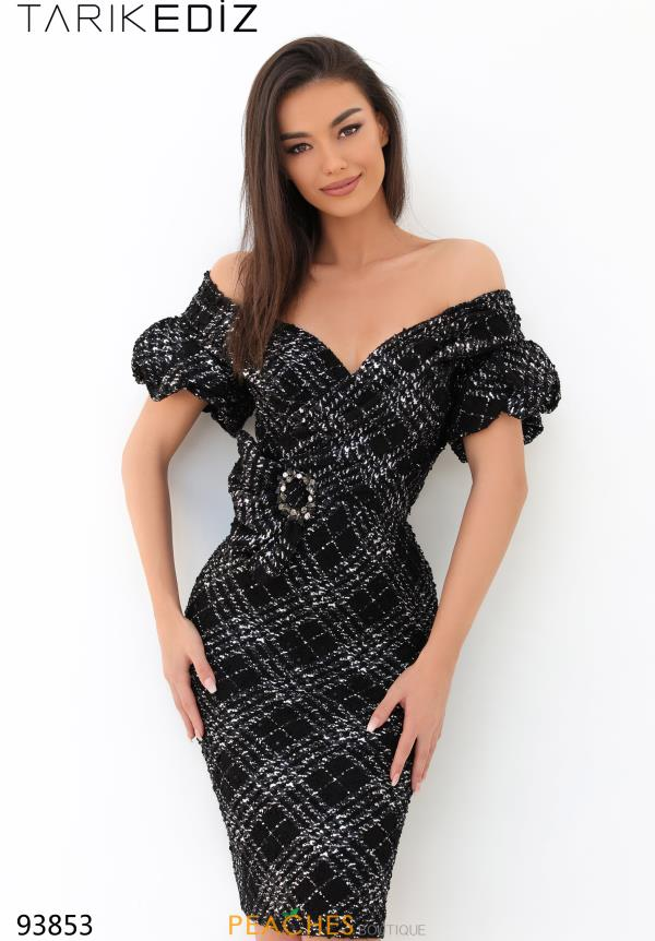 Tarik Ediz Black Fitted Dress 93853