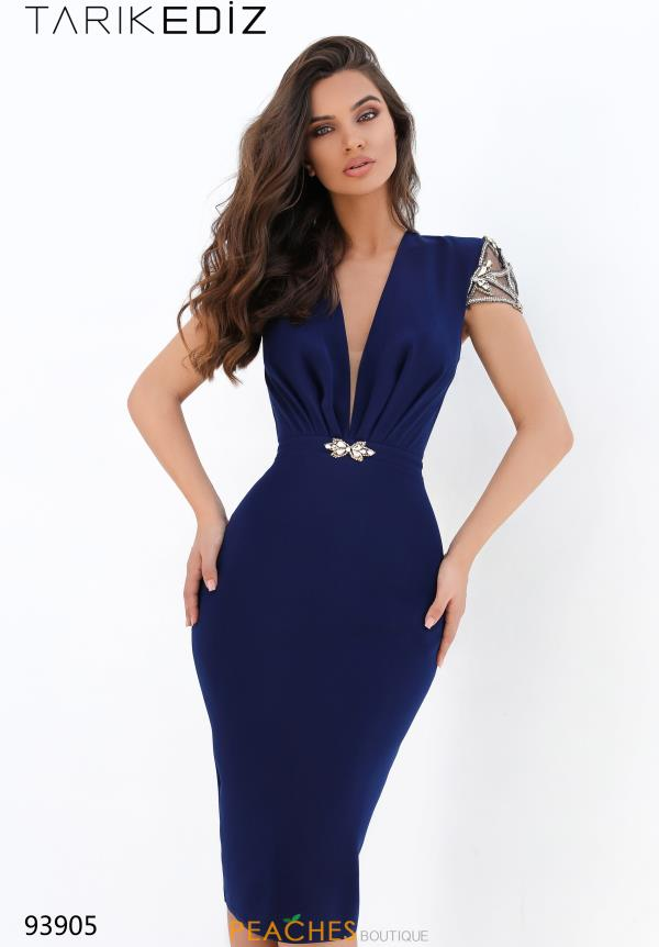 Tarik Ediz Fitted Cap Sleeve Dress 93905
