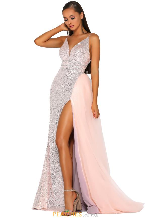 Portia and Scarlett Long Sequined Dress PS5017