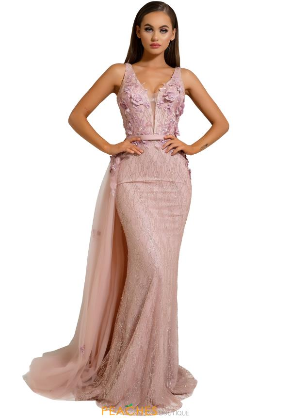 Portia and Scarlett Long Fitted Prom Dress PS6014