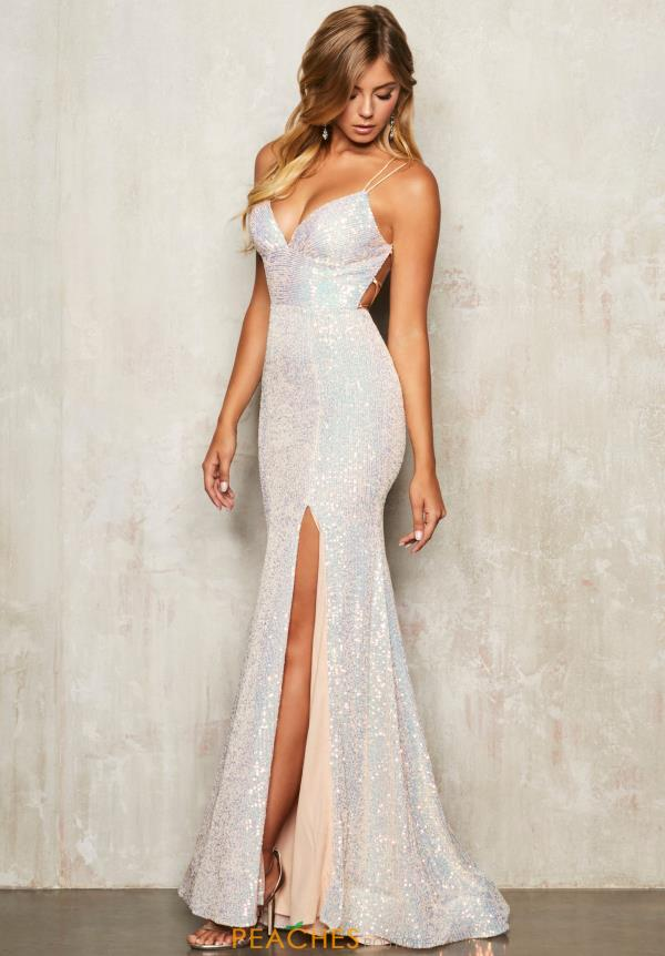 Sequin Alisha Hill V Neck Dress 80110