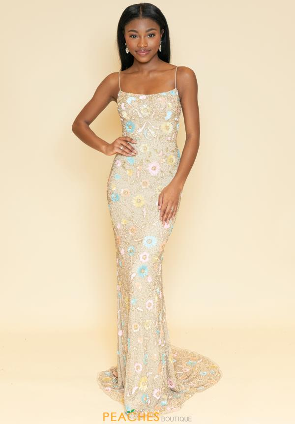 Sherri Hill Scoop Beaded Dress 53673