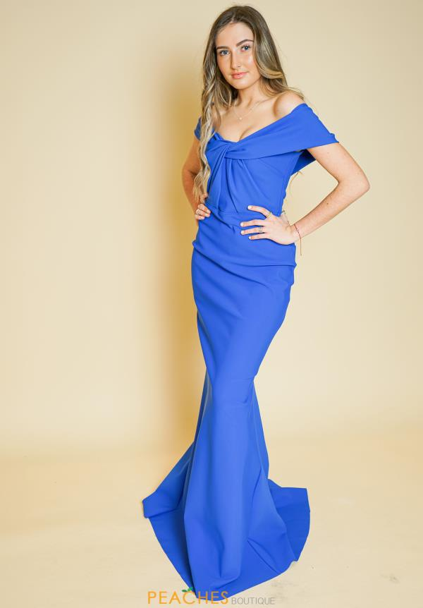 Tarik Ediz Cap Sleeve Fitted Dress 50524
