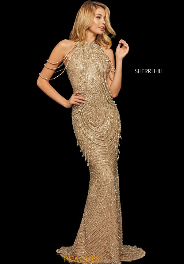 Sherri Hill Beaded Long Dress 52949