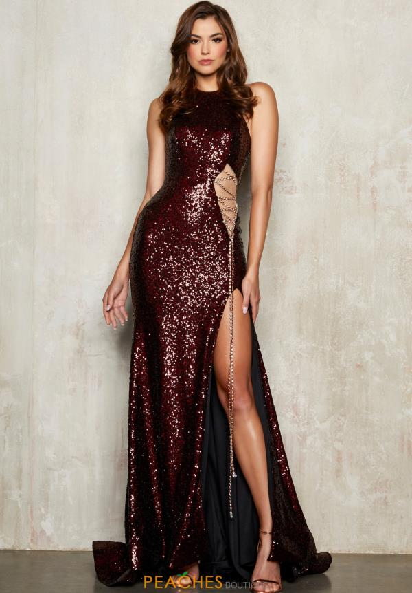 Alisha Hill Long Fitted Dress 80030