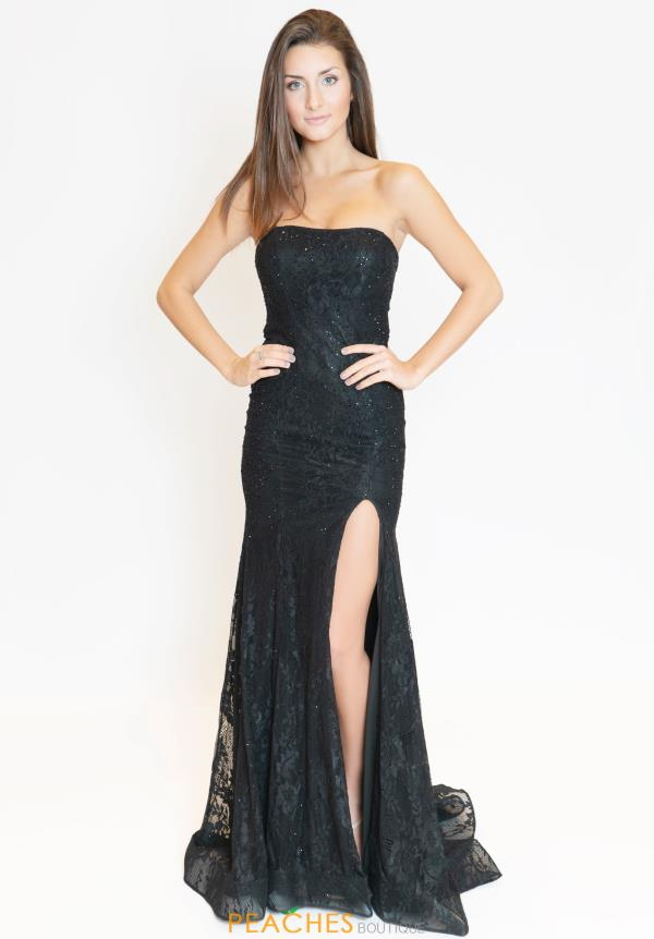 Sherri Hill Strapless Fitted Dress 53681