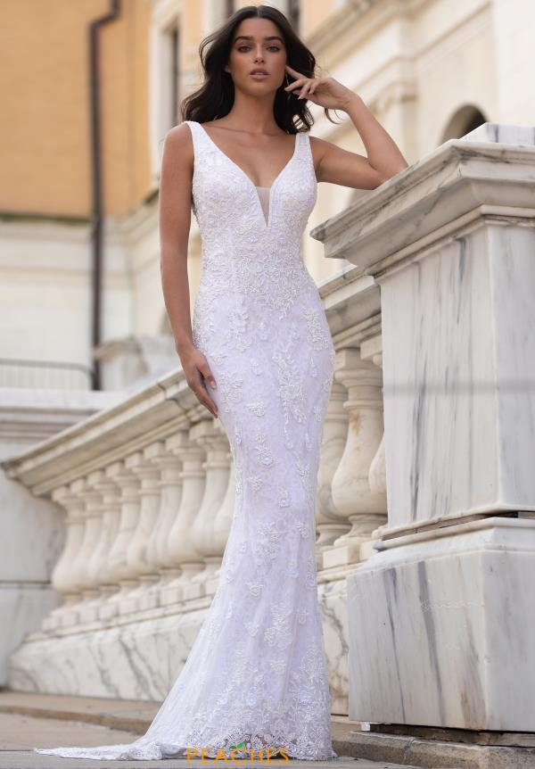 Primavera Ivory Beaded Dress 3598