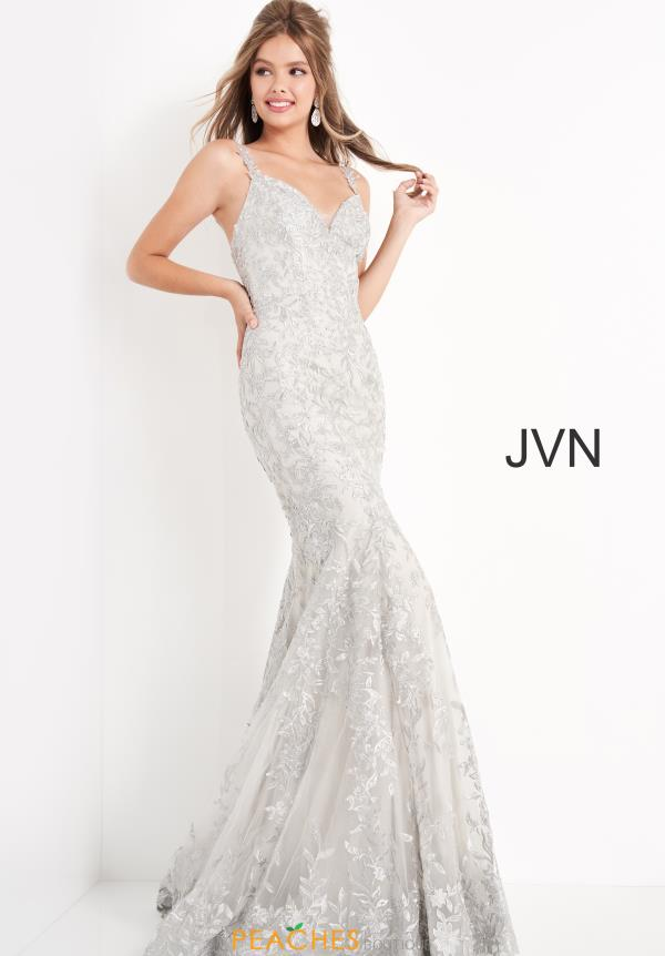 JVN by Jovani Long Lace Dress JVN00908