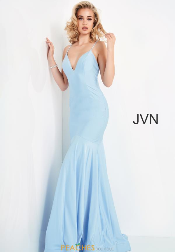 JVN by Jovani Jersey Sexy Back Dress JVN00964