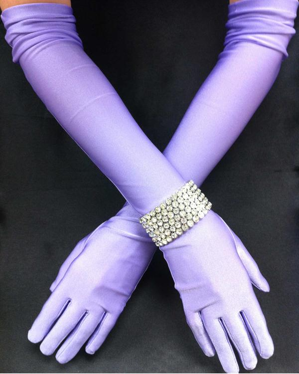 Orchid Matte Long Straight Gloves