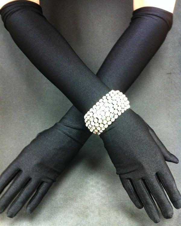 Elegant Black Matte Straight Gloves