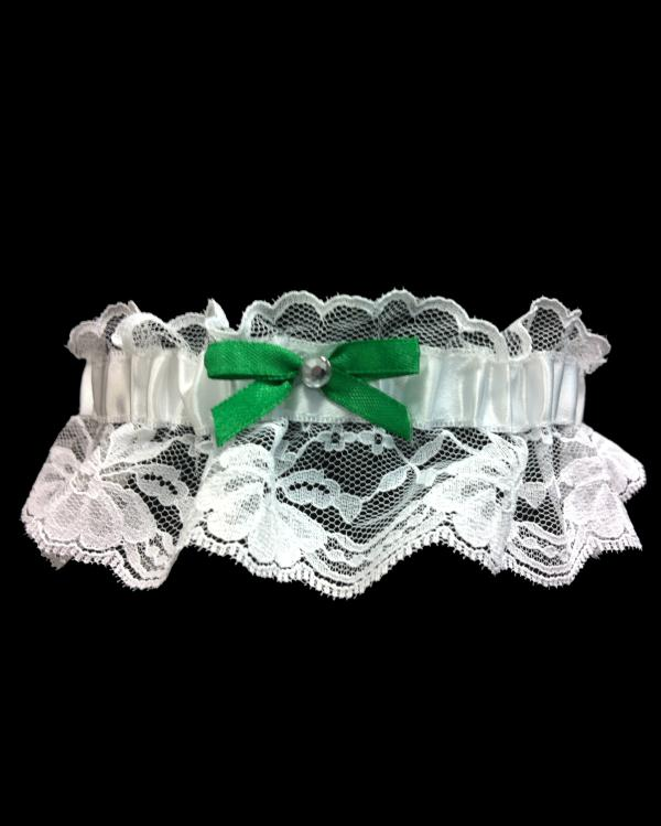 Emerald Green/Kelly Green Lace Prom Garter