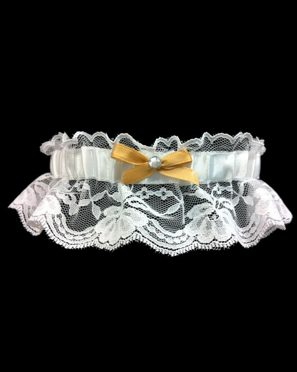 Beautiful Gold Lace Prom Garter