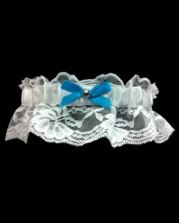 Turquoise Stretchy Lace Prom Garter