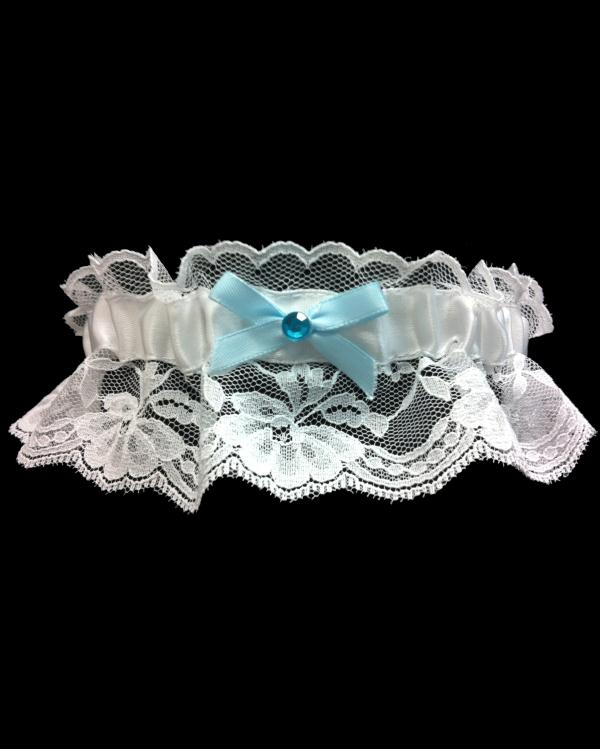 Light Blue Lace Stretchy Prom Garter