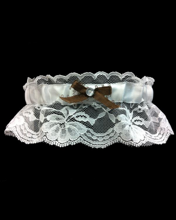 Beautiful Brown Lace Prom Garter