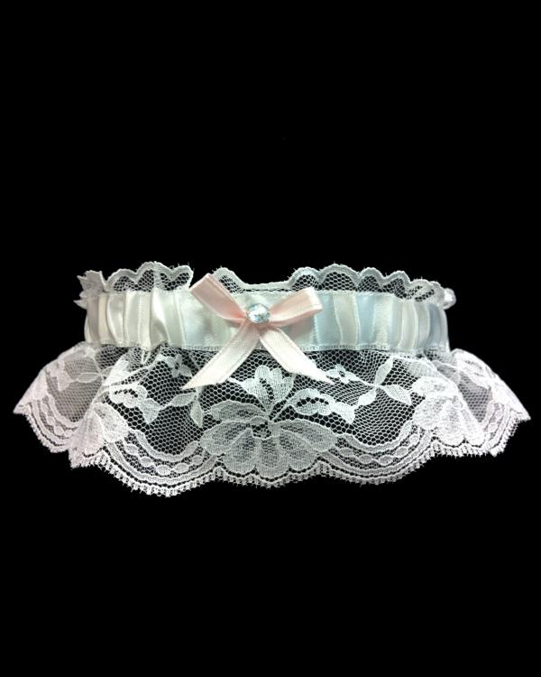 Beautiful Light Pink Lace Prom Garter