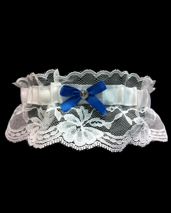 Royal Blue Stretch Lace Prom Garter