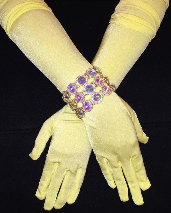 Lemonade Bright Long Matte Gloves