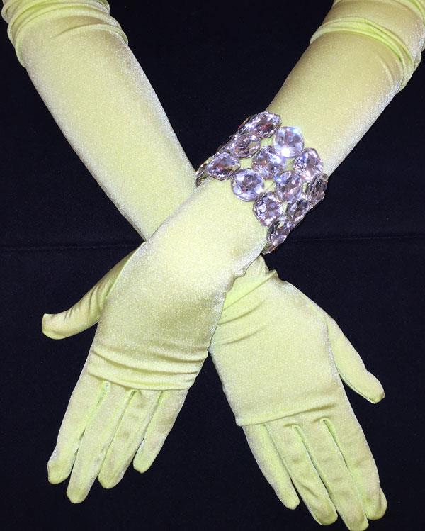 Key Lime Bright Long Matte Gloves