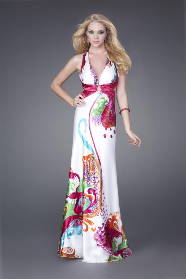 Printed Sale La Femme Dress 15199
