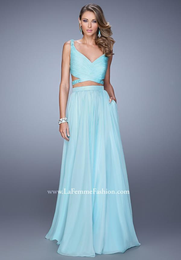 La Femme Flowy Two Piece Dress 21152