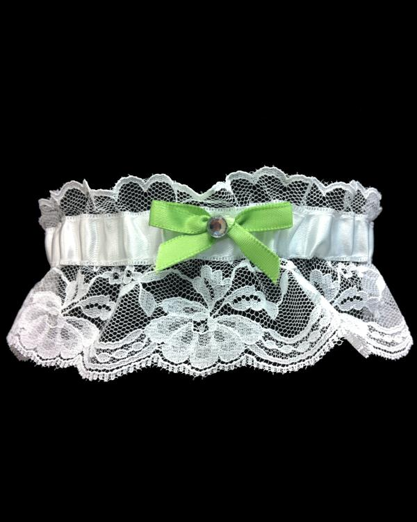 Lime Green Vibrant Lace Prom Garter