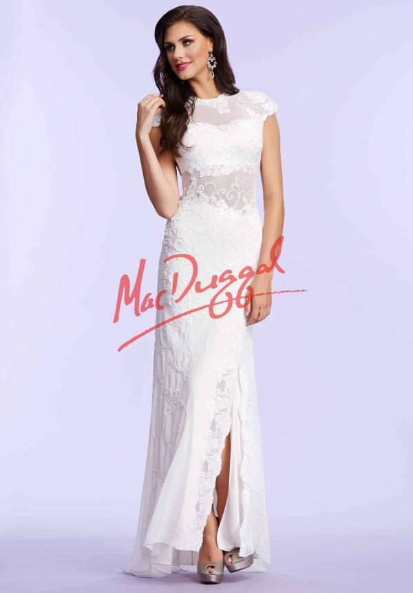 Sleeved Fitted MacDuggal Dress 1903M