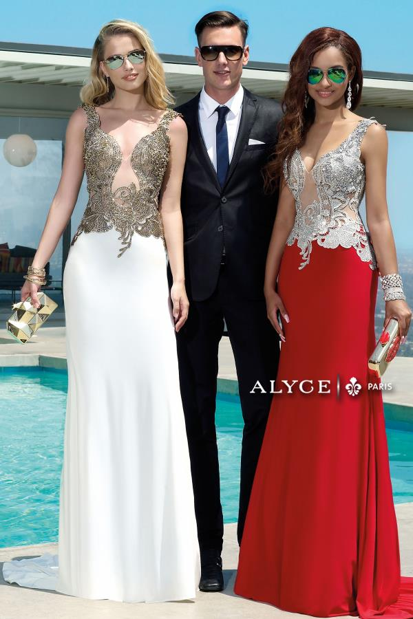 Alyce Paris Beaded Two Straps Dress 2425