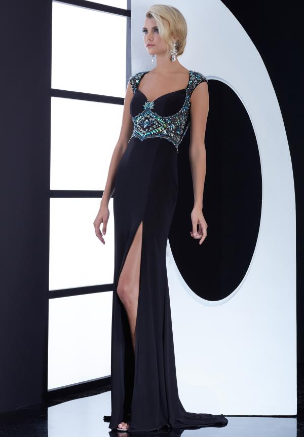 Jasz Couture Jersey Fitted Prom Dress 5455