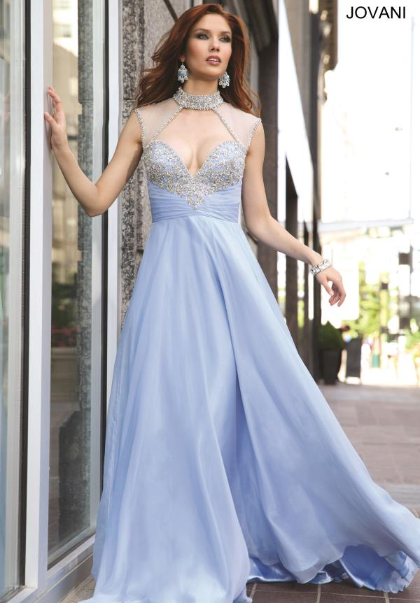 Jovani Beaded Chiffon Dress 98546