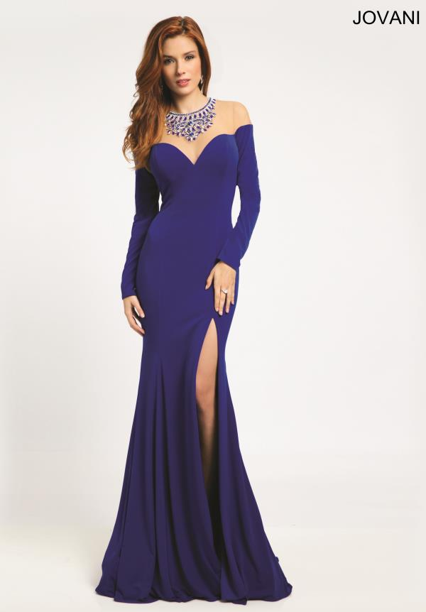 Jovani Long Sleeved Prom Dress 21039