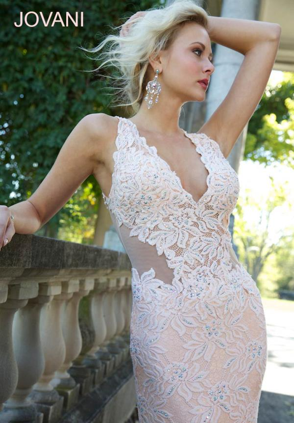 Jovani V- Neckline Dress 93141