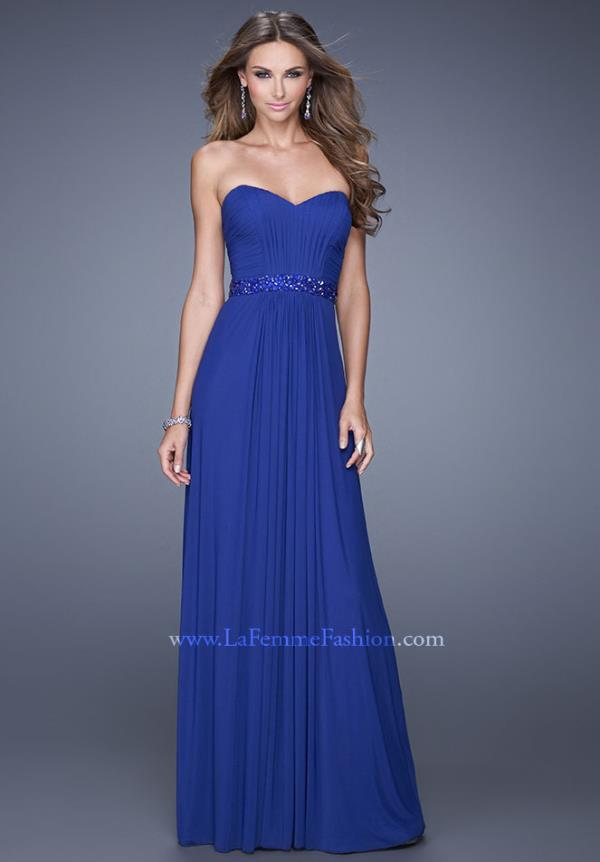 La Femme Sweetheart Neckline Beaded Dress 20698