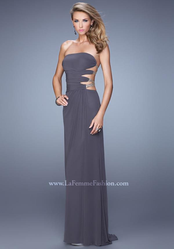 La Femme Sexy Beaded Cut Outs 21197