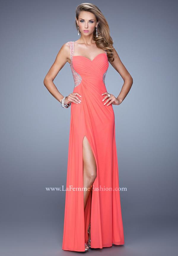 La Femme Ruched Bodice 21231 Dress