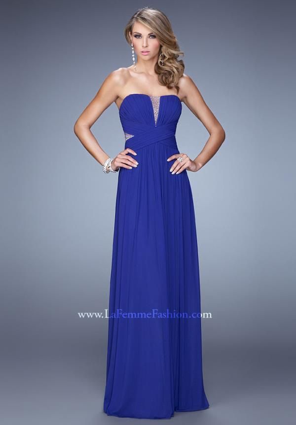 La Femme Beaded Prom Dress 21483
