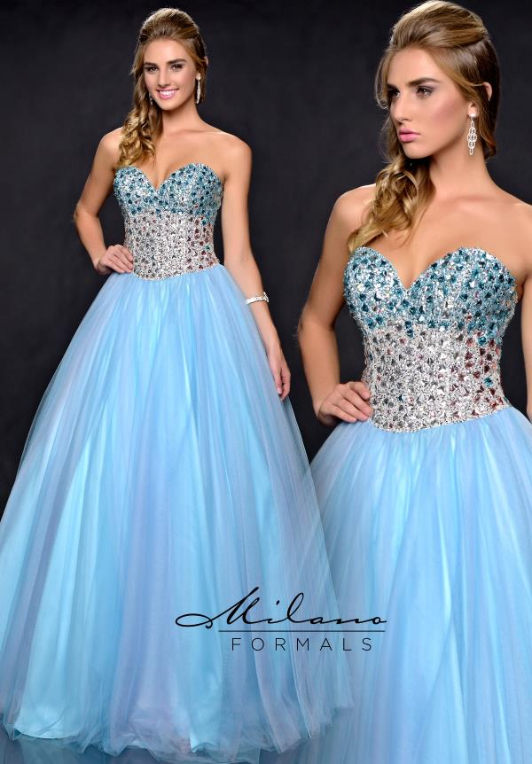 Milano Formals Beaded Ball Gown Dress E1715
