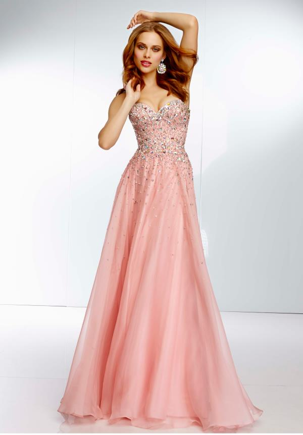 Mori Lee Beaded Top Dress 95002