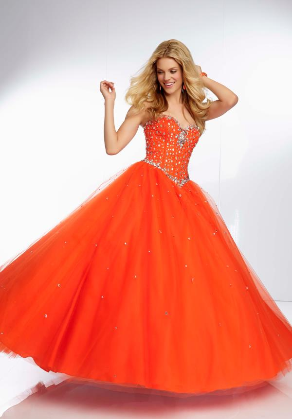 Mori Lee Beaded Top Dress 95024