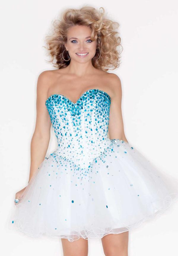 Beaded Corset Mori Lee Sticks and Stones 9214