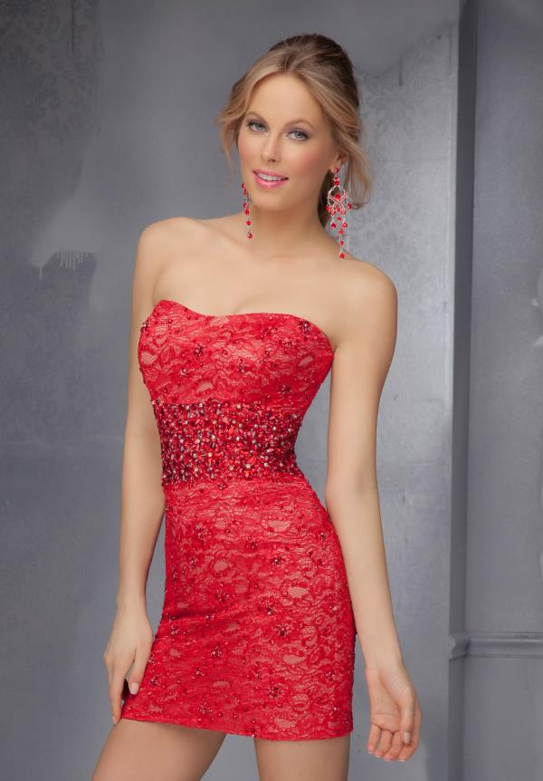 Mori Lee Sticks & Stones Strapless Prom Dress 9294